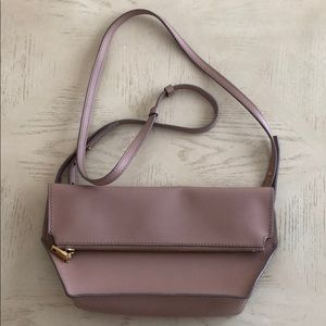 J.Crew Leather Convertible Crossbody Bag Blush